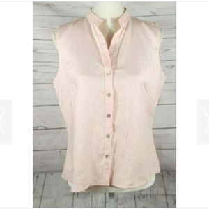 Richard Malcolm Button Front Sleeveless Top Large